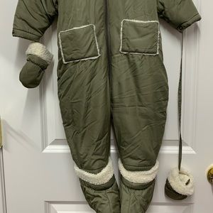 Talbots 18mo snowsuit in olive green